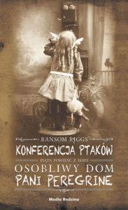 """Okładka książki """"Konferencja ptaków"""" nominowana w Plebiscycie Książka Roku 2020"""