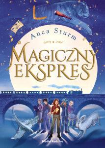 """Okładka książki """"Magiczny ekspres"""" nominowanej w Plebiscycie Książka Roku 2020"""